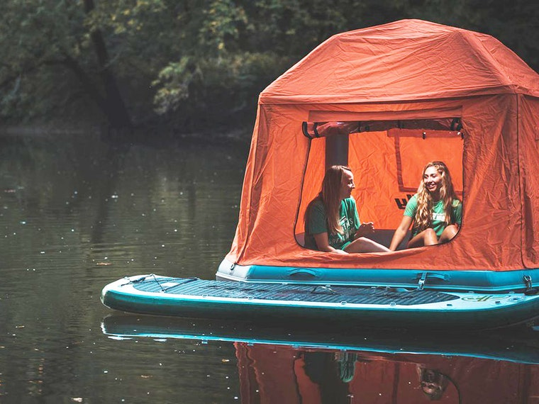 This tent that actually floats on water