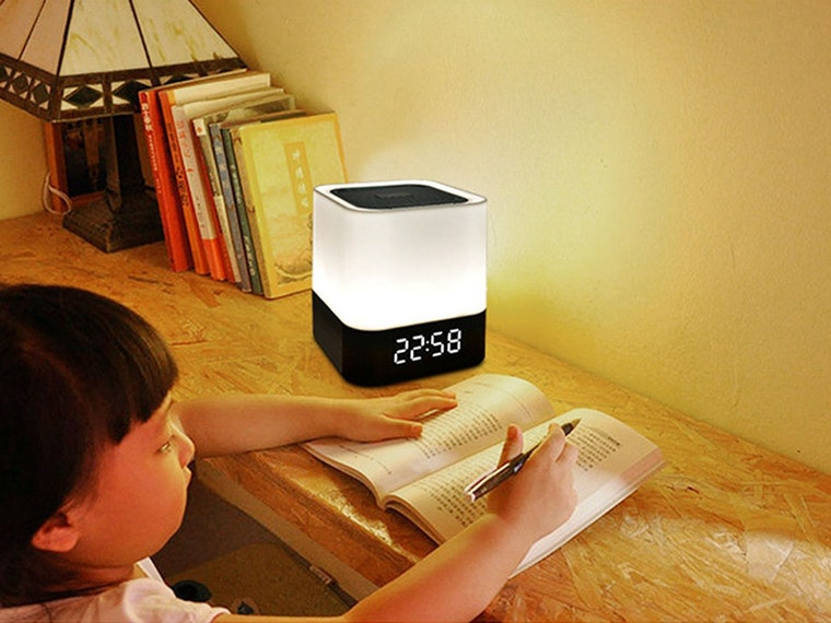 This LED alarm clock for when your regular nightlight no longer does the trick