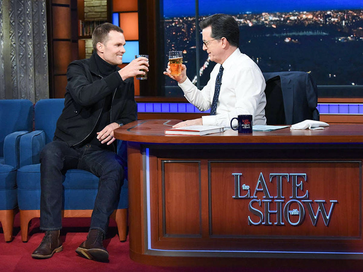 Here Are Some Things Stephen Colbert Does Better Than Tom Brady