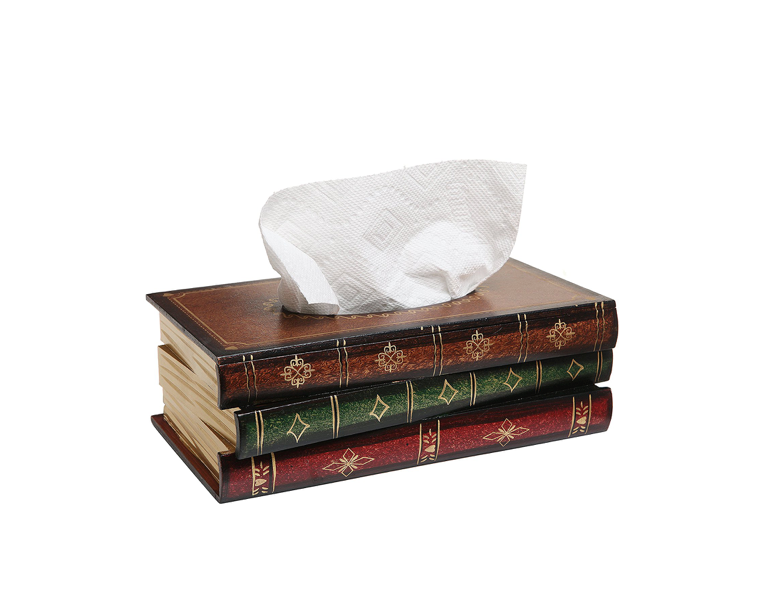 A box of tissues disguised as a pile of books📚