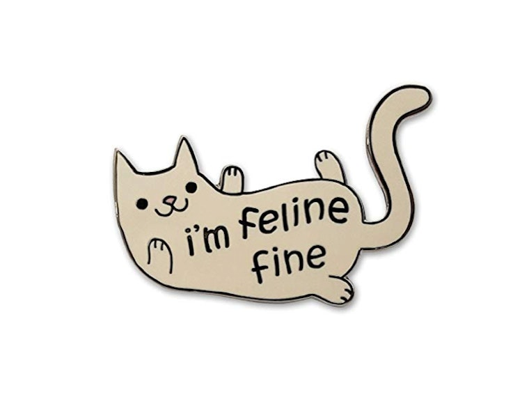 This pin for when you're feline fine 🐈