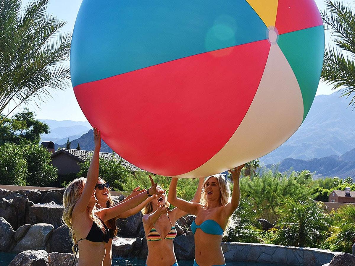 Thisoversizedbeach ball for (presumably) oversized fun