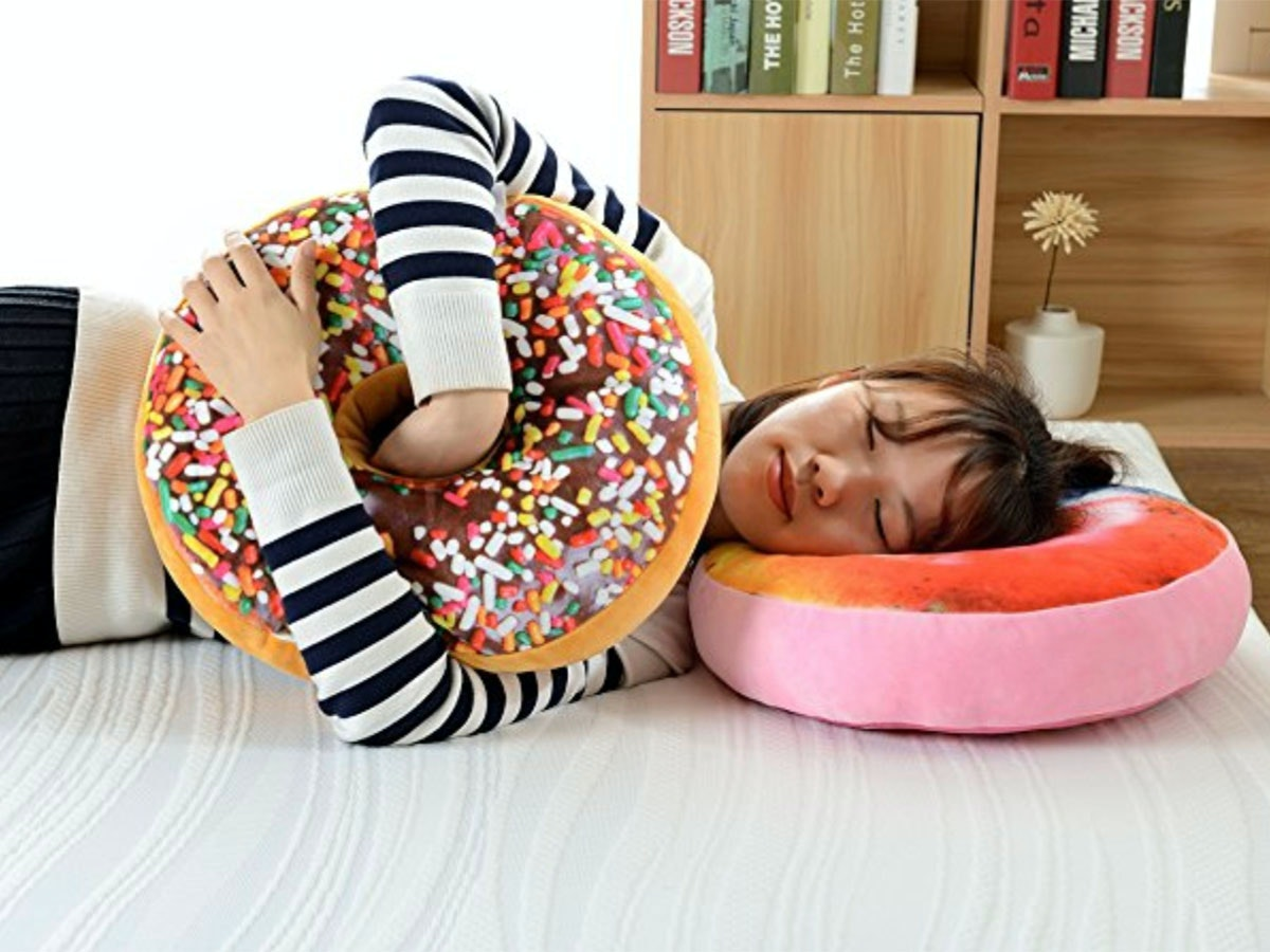 This pillow that offers all the comfort of donuts with none of the calories