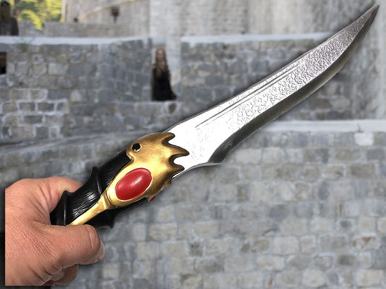 Littlefinger's dagger, recreated in foam