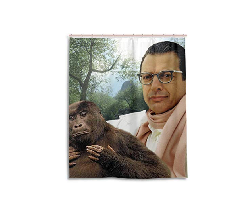 This super sexy shower curtain