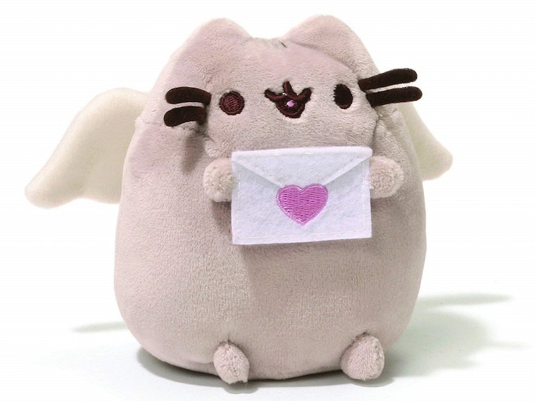 A Pusheen for the love-struck