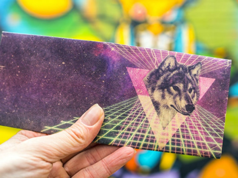 This sick space wolf wallet for holding all your sick space money