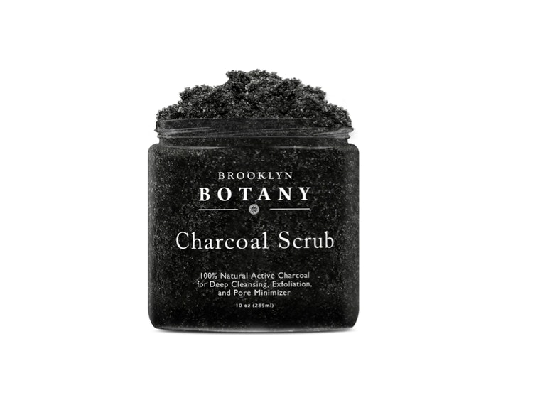 This dark and mysterious charcoal scrub