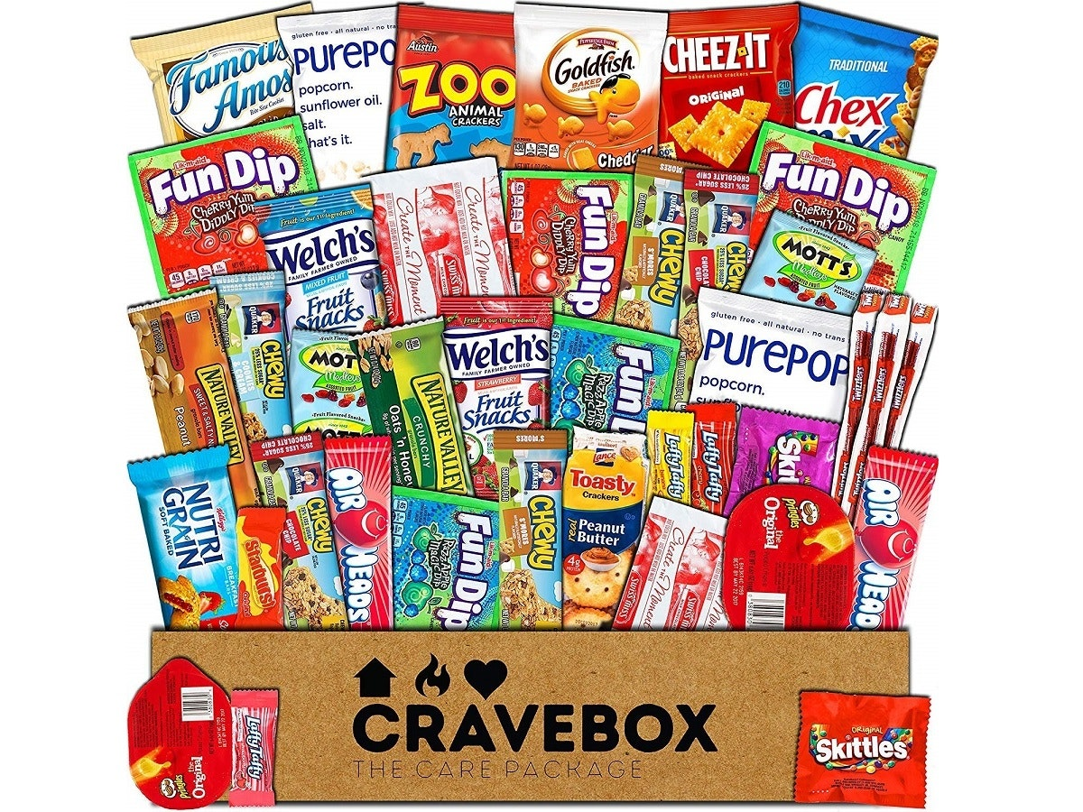A box of sweet-and-salty snacks for your salty sweetie