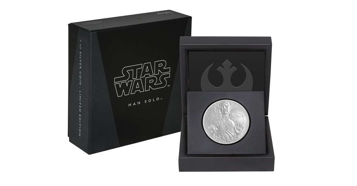 This uncirculated Han Solo coin
