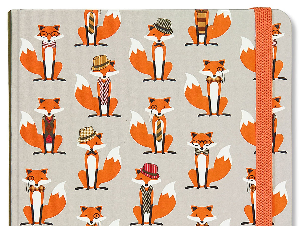 This hardcover notebook for people who can't get enough foxes in their life