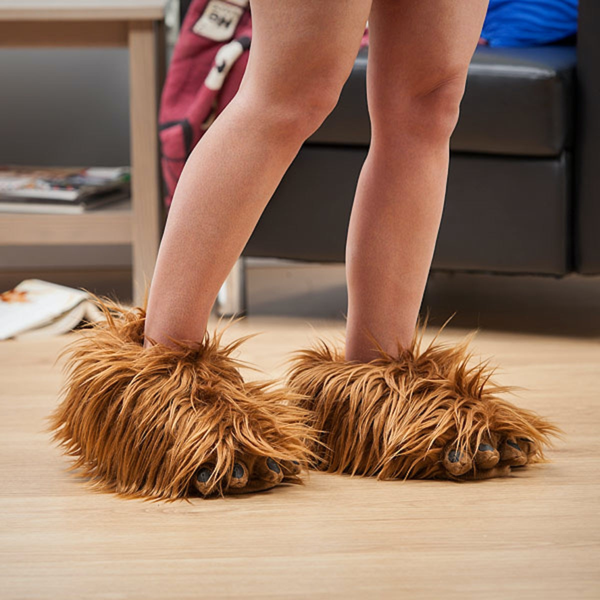 These gloriously noisy Chewbacca slippers