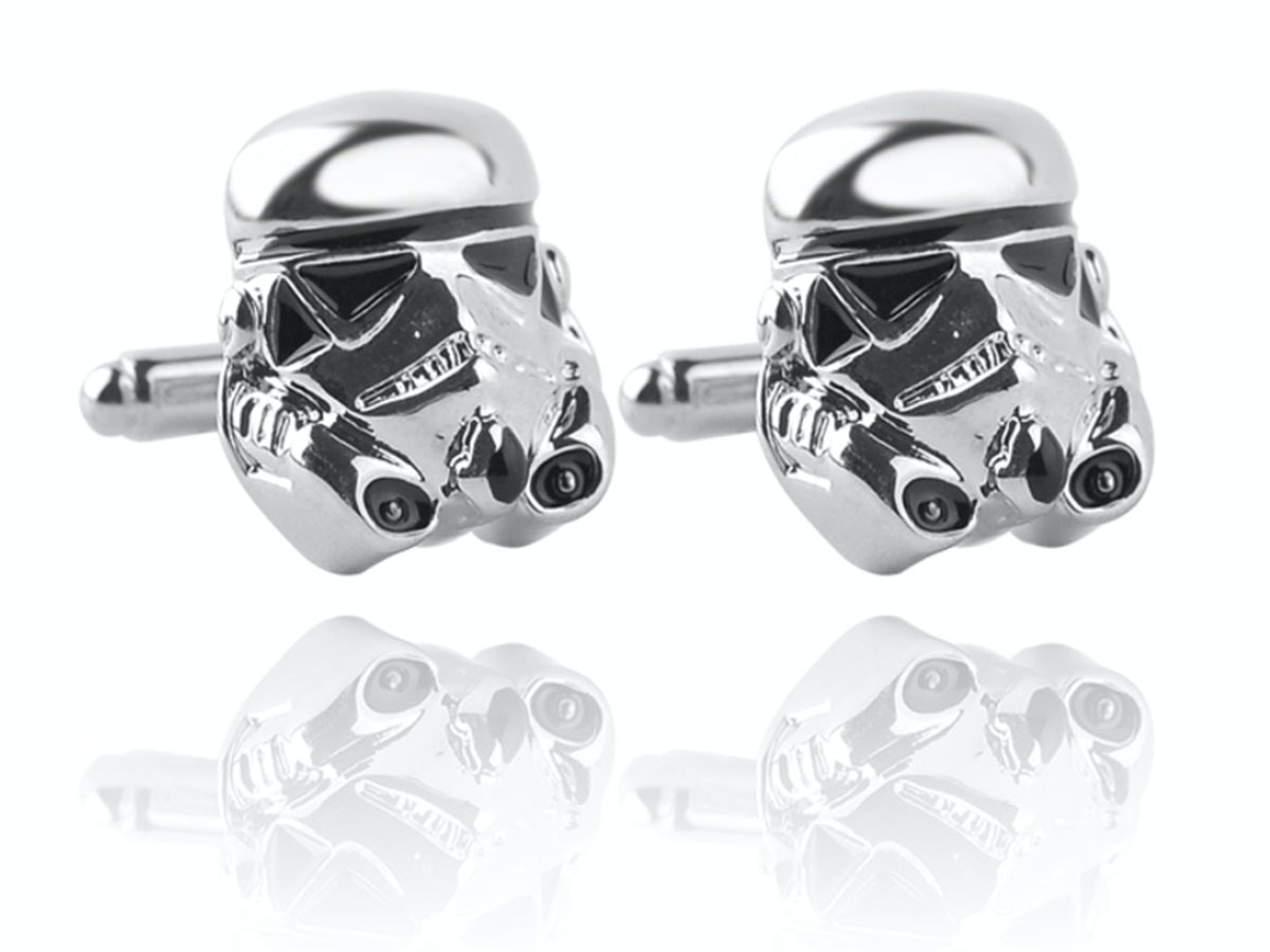 These Stormtrooper cufflinks so you can see The Last Jedi in style