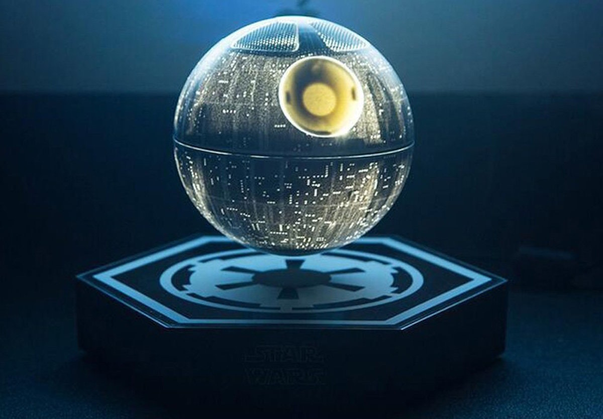This Death Star Bluetooth speaker that floats without the Force