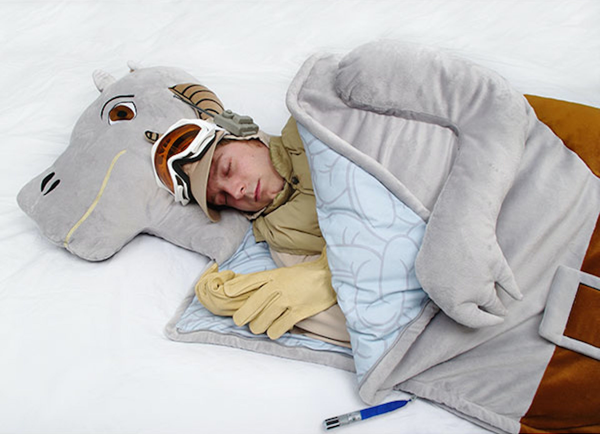 A sleeping bag that'll keep you warm, even on Hoth