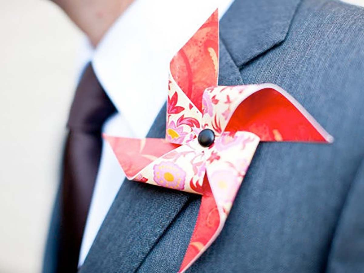 Aunique addition for the groom's outfit