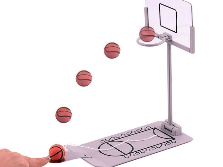 This fun little tabletop game of basketball