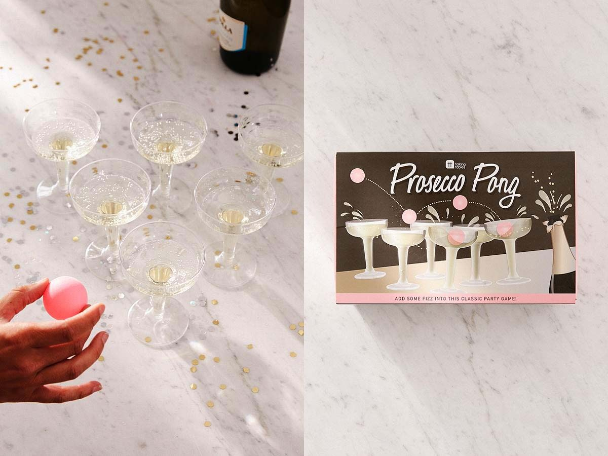 This classy twist on pong that will keep yourguests occupied