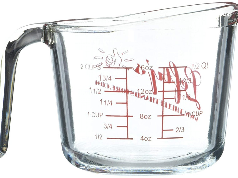 This measuring cup with lines where they belong