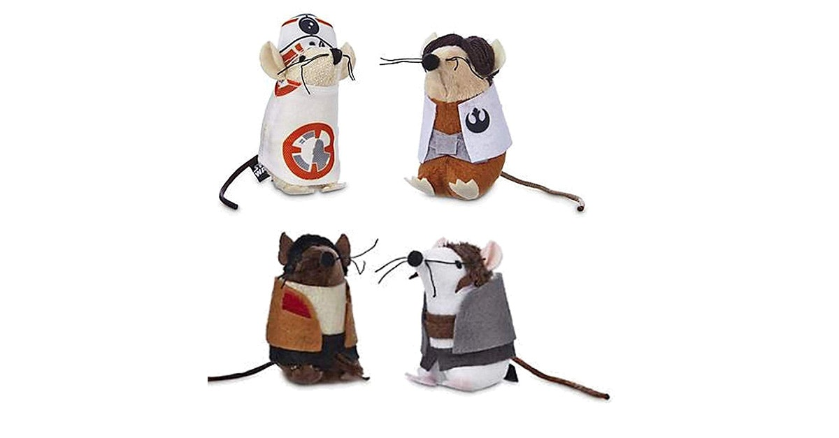 These Rey, Finn, BB-8 and Poecat toys