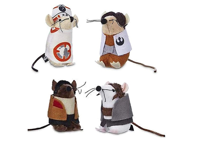 These Rey, Finn, BB-8 and Poe cat toys