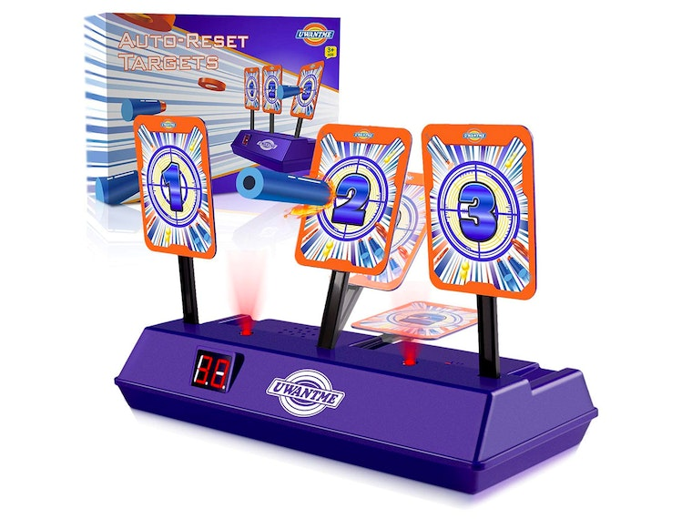 This electronic target game for Nerf guns