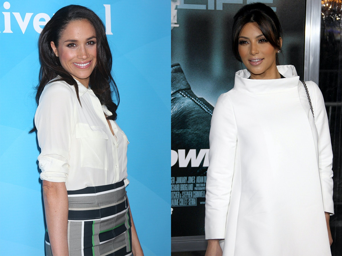 Comparing Meghan Markle and American Royalty Kim Kardashian's Style