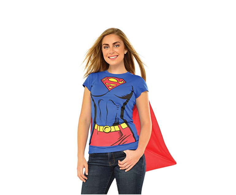 This super caped costume shirt for Supergirls