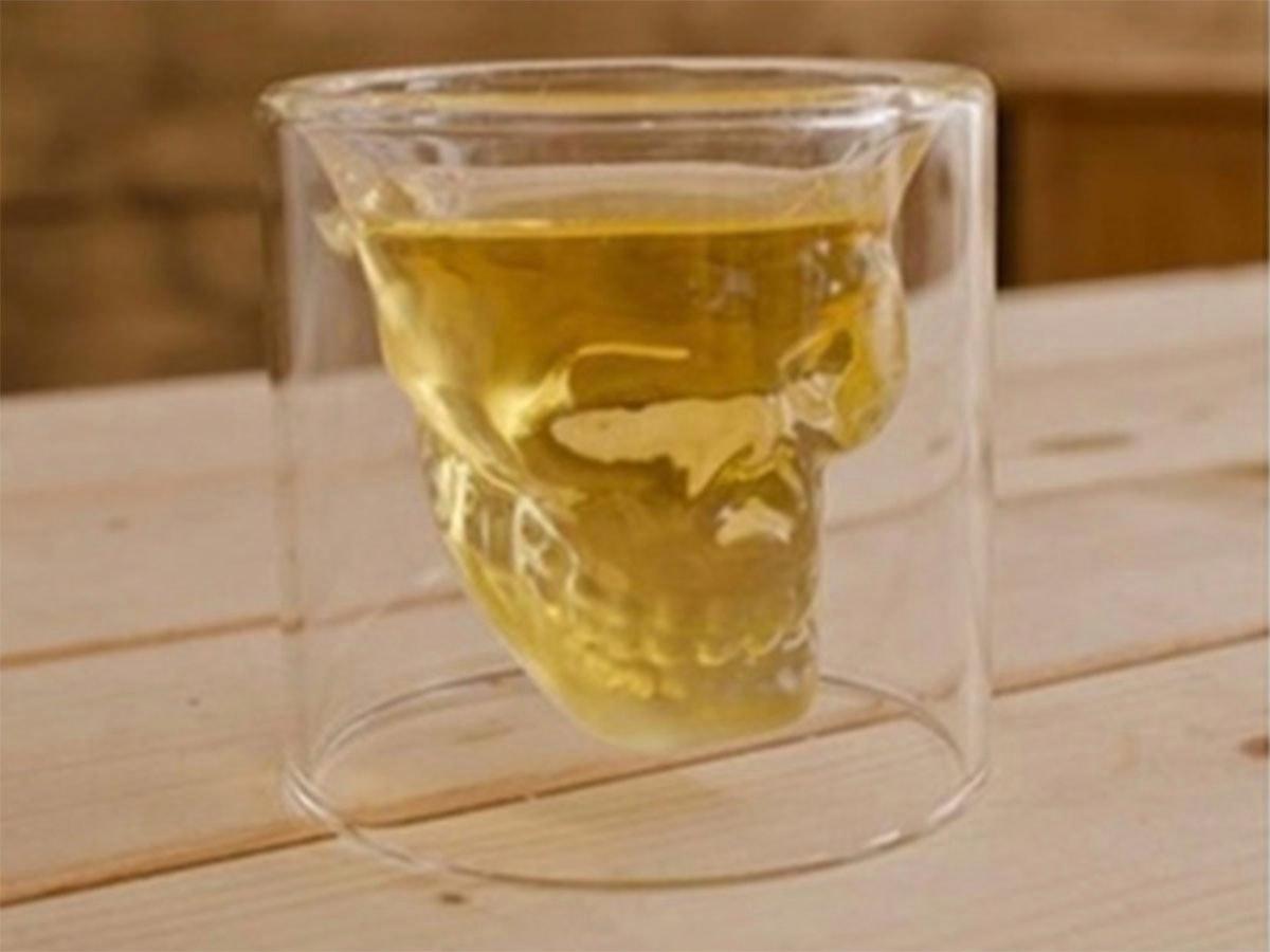 This creepy-cool skull shot glass