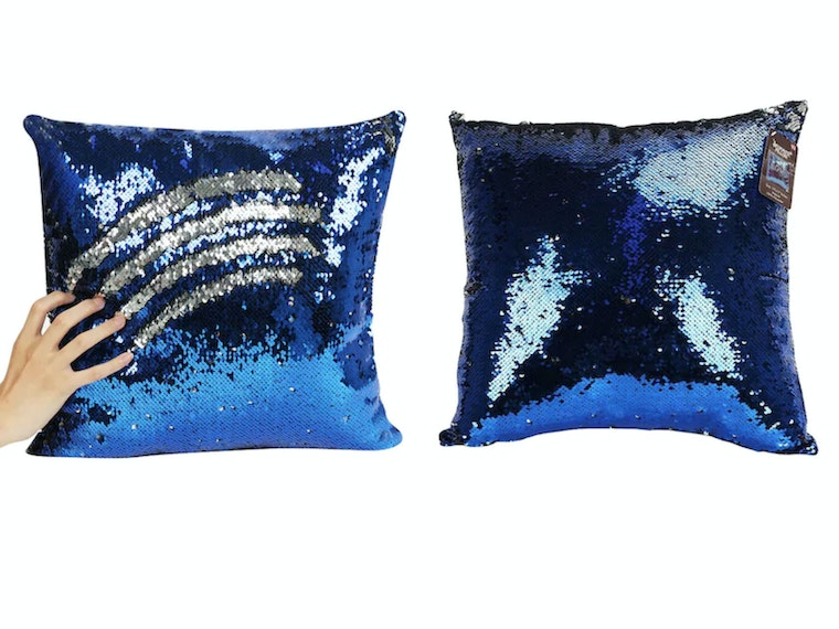 This absolutely mesmerizing sequin pillow