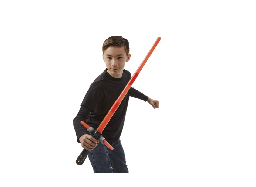 This electronic lightsaber for re-enacting movie battles