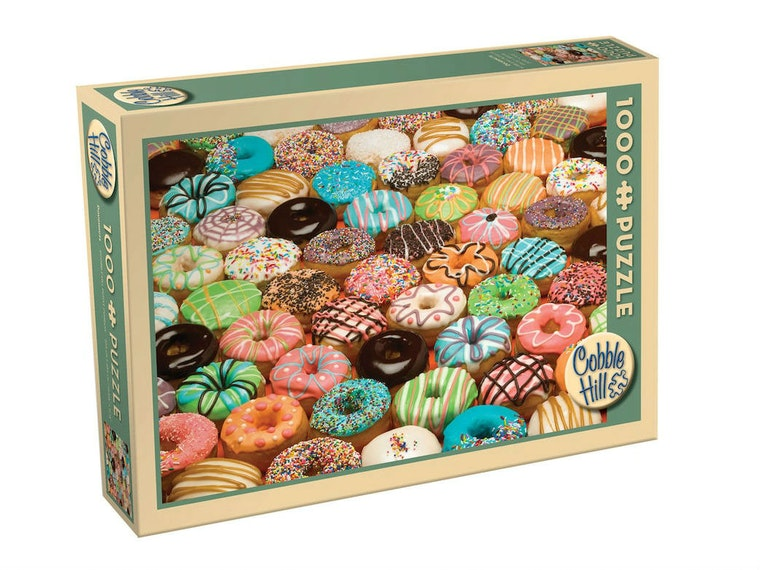 This jigsaw puzzle that's just a giant photo of doughnuts