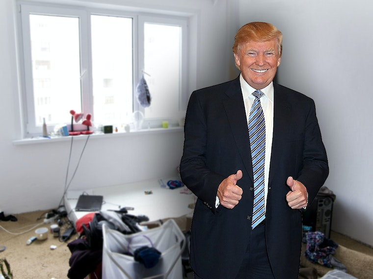 This cardboard cutout so the president can make appearances at all your high-class events