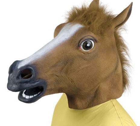 This now-infamous horse mask