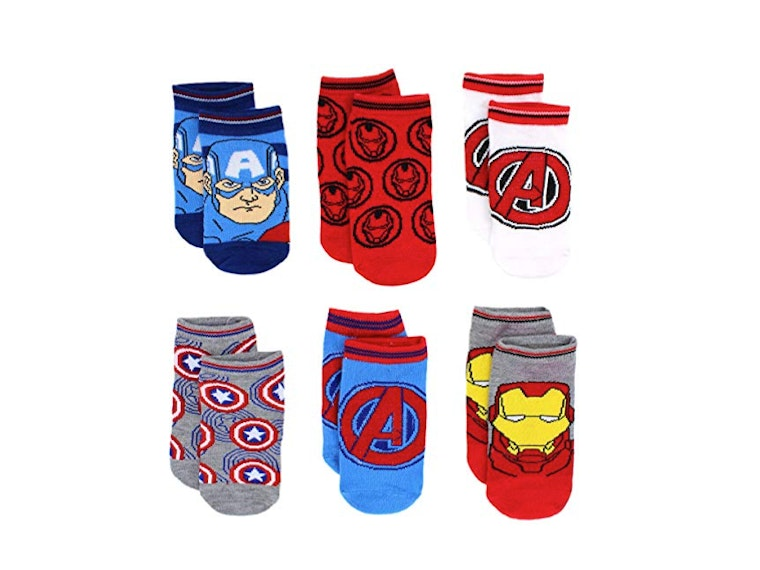 These superhero socks for tiny feet