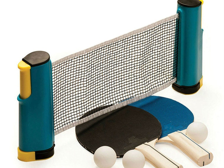 This genius kit that turns anything into a table tennis table