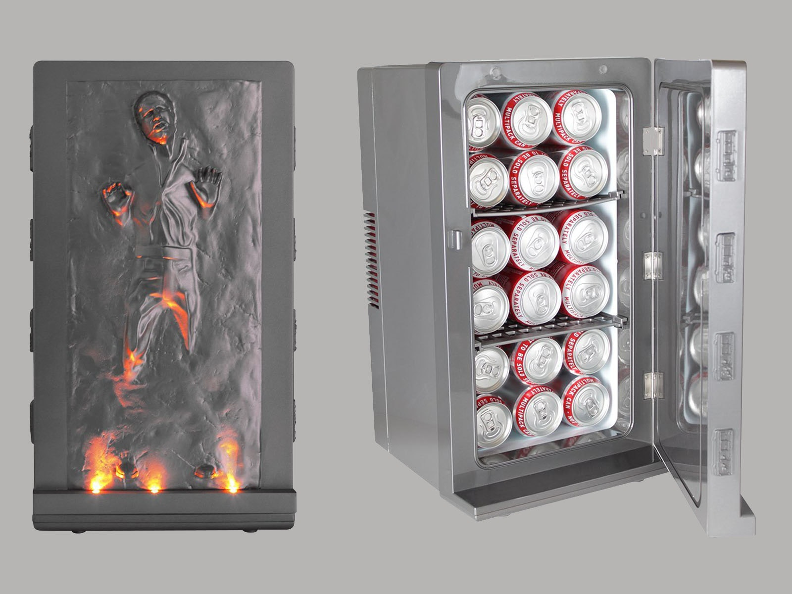 This carbonite-free Han Solo mini fridge for your blue milk