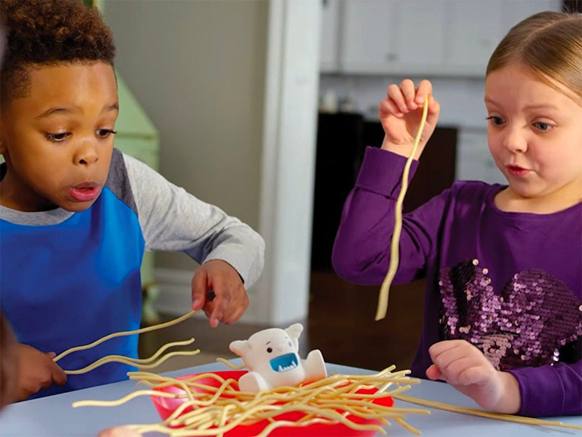 This silly game that younger kids will love🍝