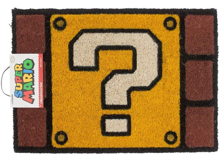 This perfect doormat for old-school Mario fans
