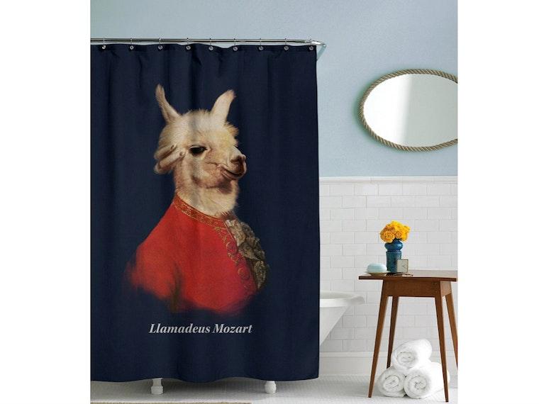This classy shower curtain honoring a true musical genius 🎶