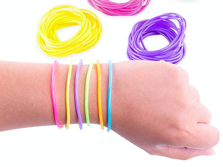 Just a ton of colorful jelly bracelets!