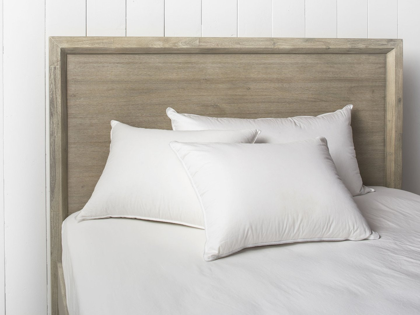 Afluffy down pillow for side and back sleepers