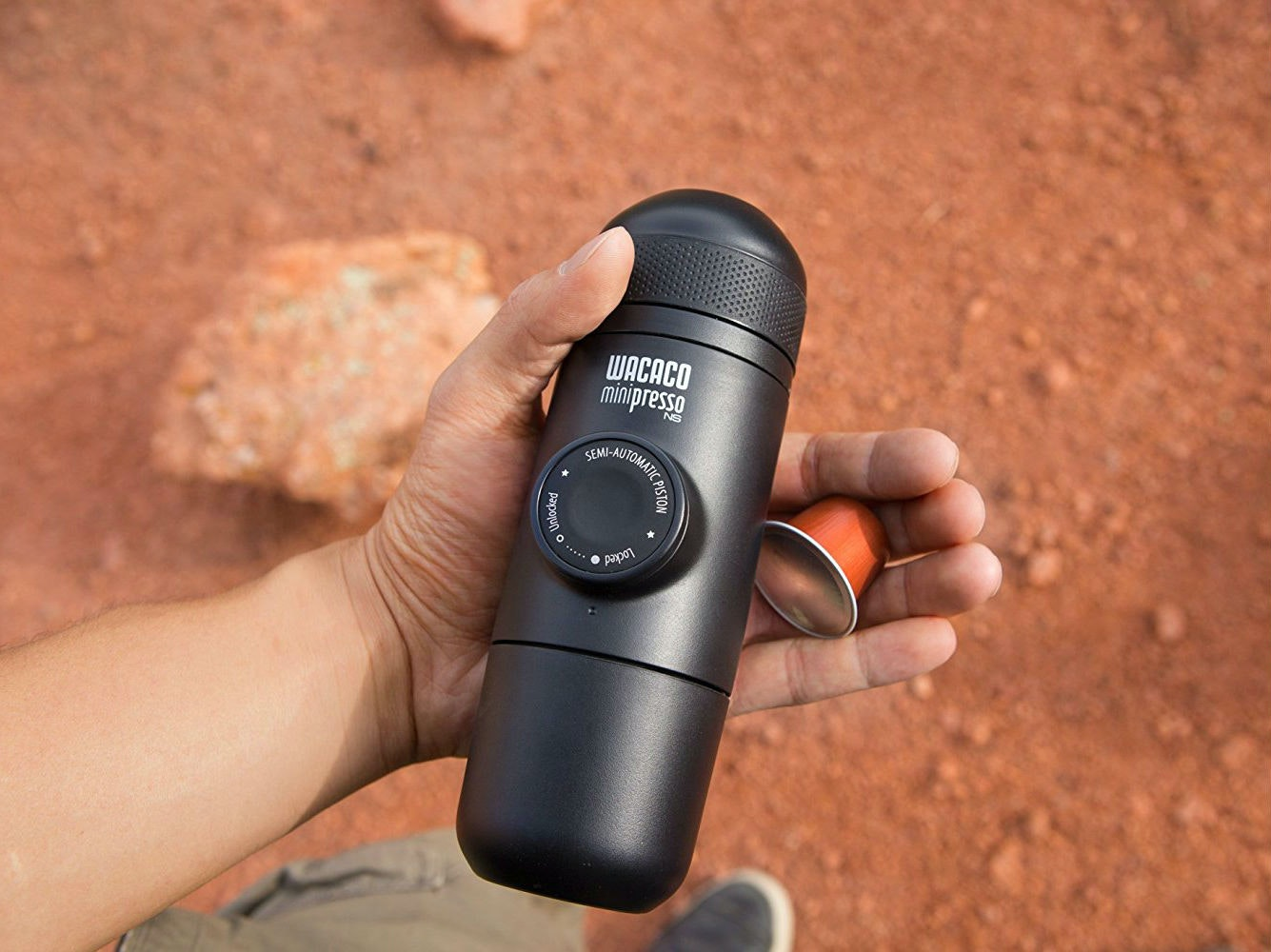 Thisperfect espressomaker for camping trips