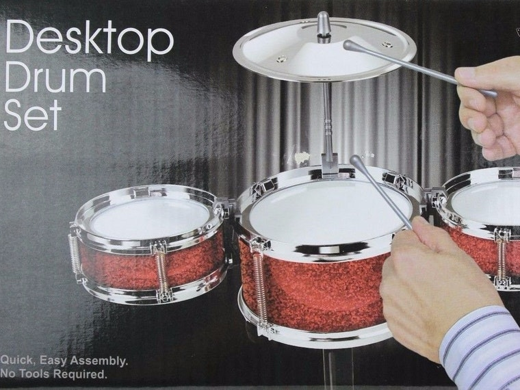 This desktop drum set that will make all your coworkers hate you