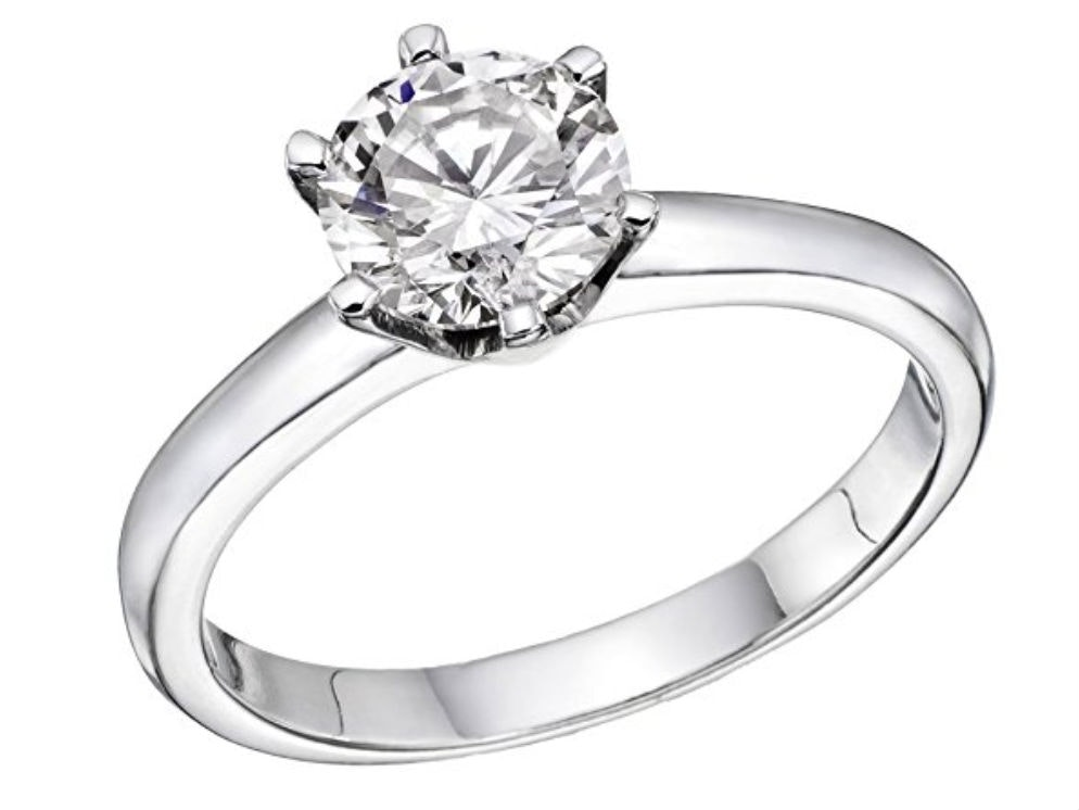 This engagement ring that can be shipped quick via Amazon Prime