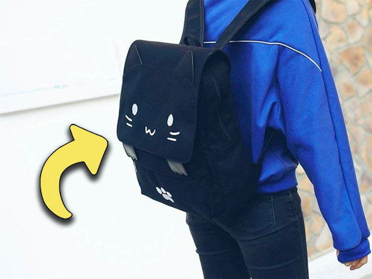 This cat backpack that will make you squee😻