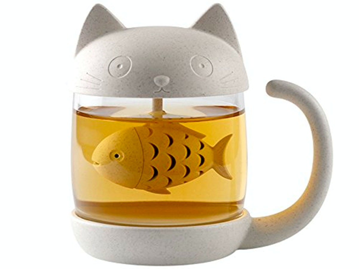 This fishy little tea infuser 🐱🐟