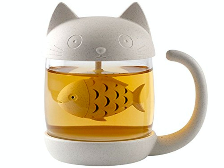 This fishy little tea infuser🐱🐟