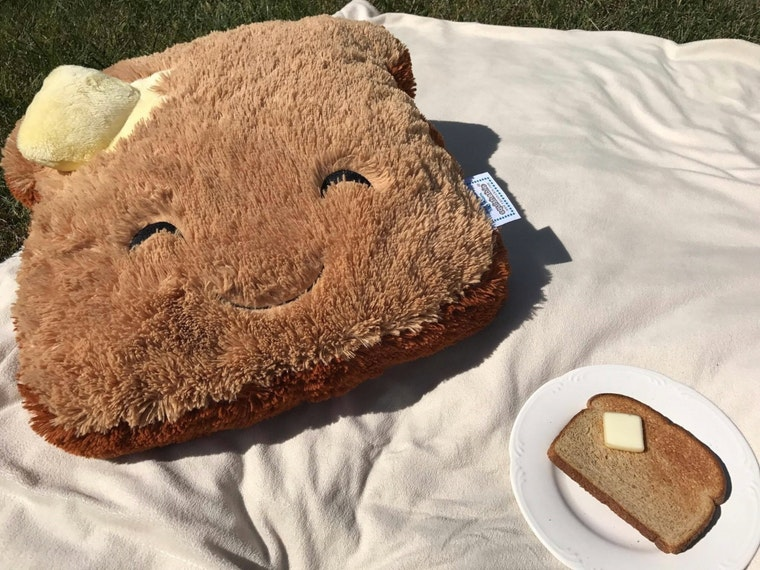 The softest piece of toast you'll ever cuddle