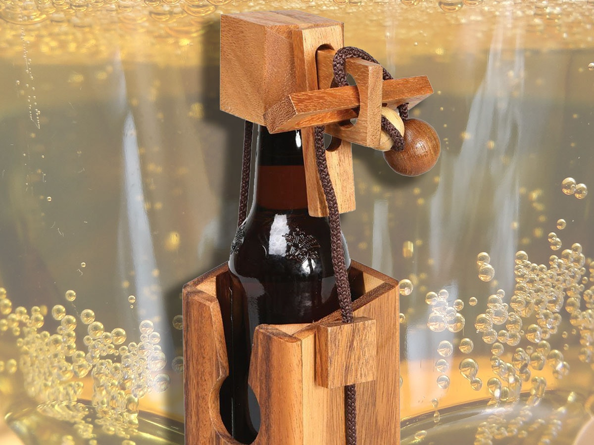 This delightfully frustrating beer bottle puzzle